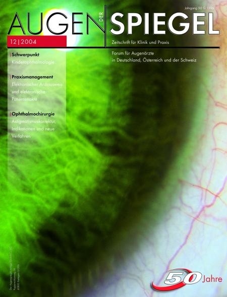 Cover Augenspiegel 12/2004