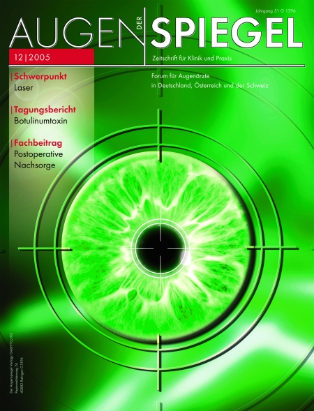 Cover Augenspiegel 12/2005